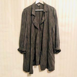 J. Jill Gray open front tweed jacket size X-Large